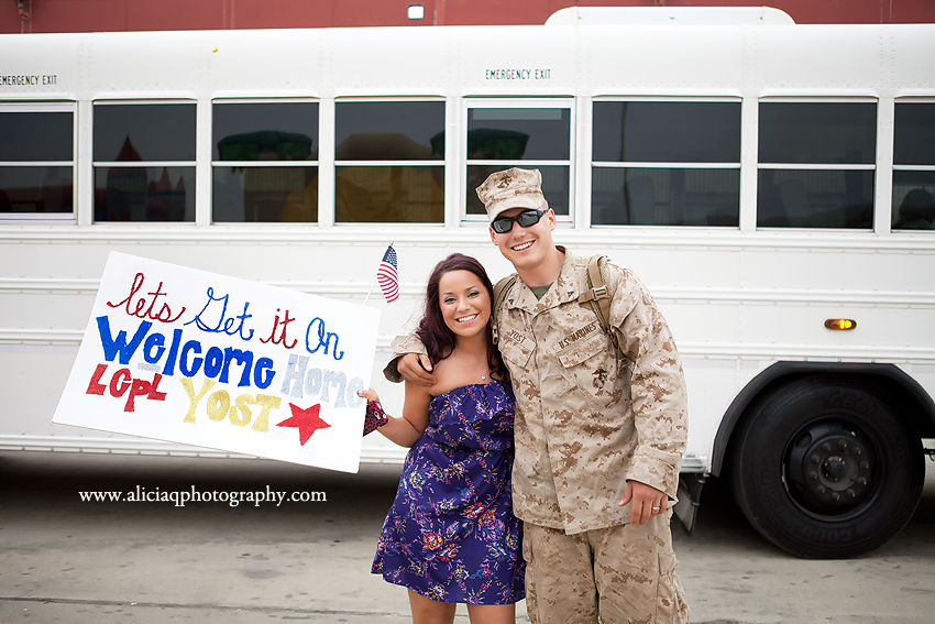 always faithful welcome home marine camp pendleton homecoming