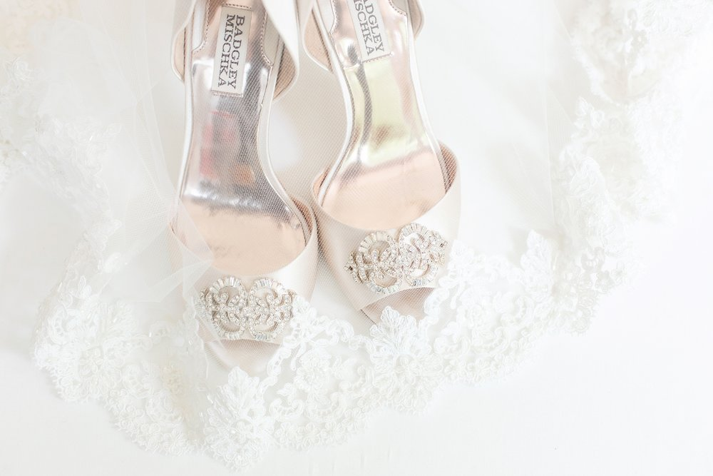 These are the same shoes Whitney's sister wore for her own wedding!