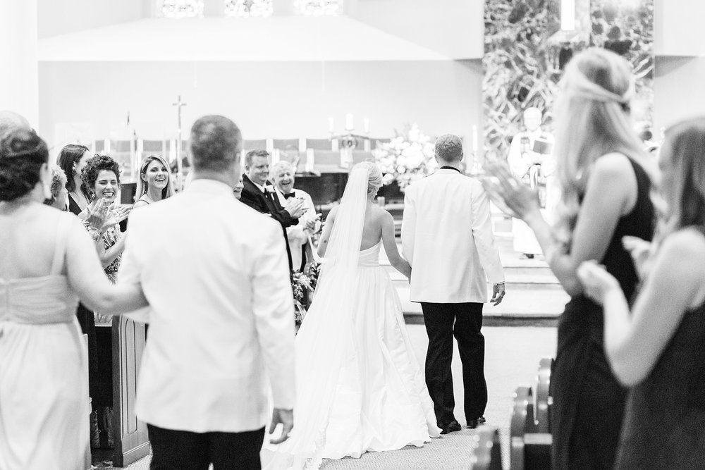 Everyone cheered them as they walked back down the aisle!