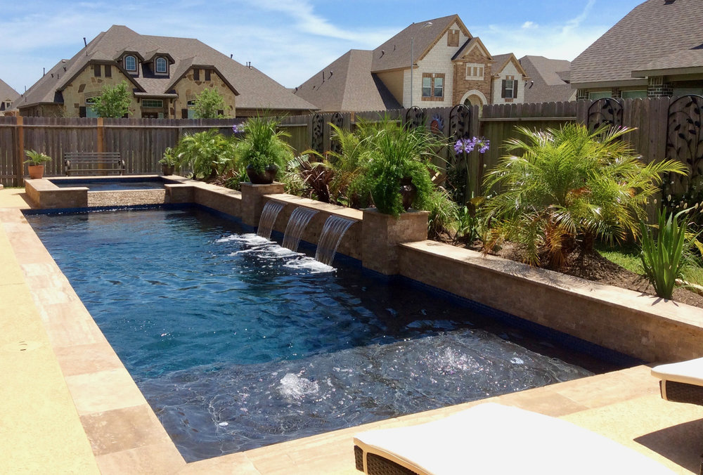 Backyard Amenities Can Create Natural Looking Pool Shapes Or Geometric Pool  Designs ...