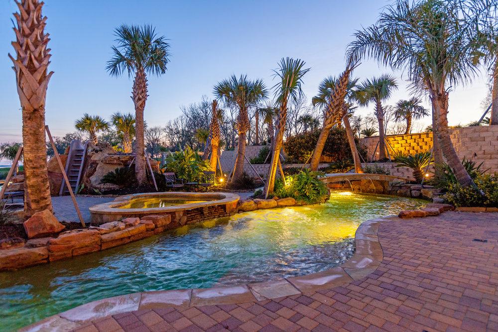 Backyard Amenities Houston Pool Builder In Ground Custom Pool Designs