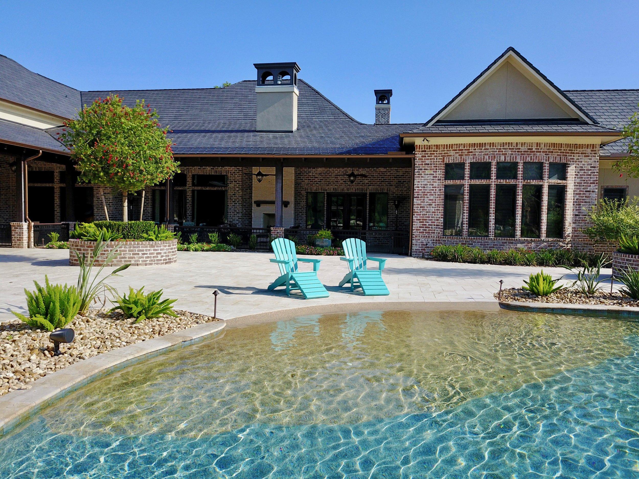 backyard amenities houston pool builder in ground custom pool