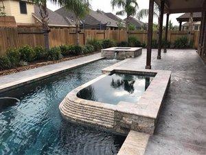 Geometric Pools — Backyard Amenities | Houston Pool Builder - In ...