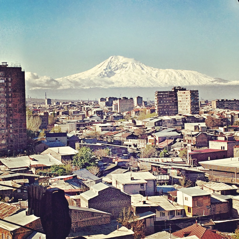 View from our 9th floor bedroom window of Mt. Ararat