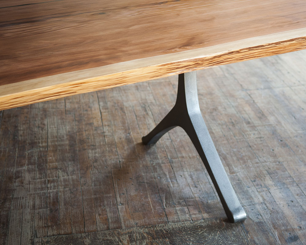 Custom metal table legs designed and made in Toronto by STACKLAB.