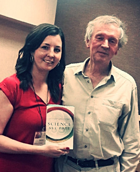Haley & Dr. Sheldrake at the IONS conference