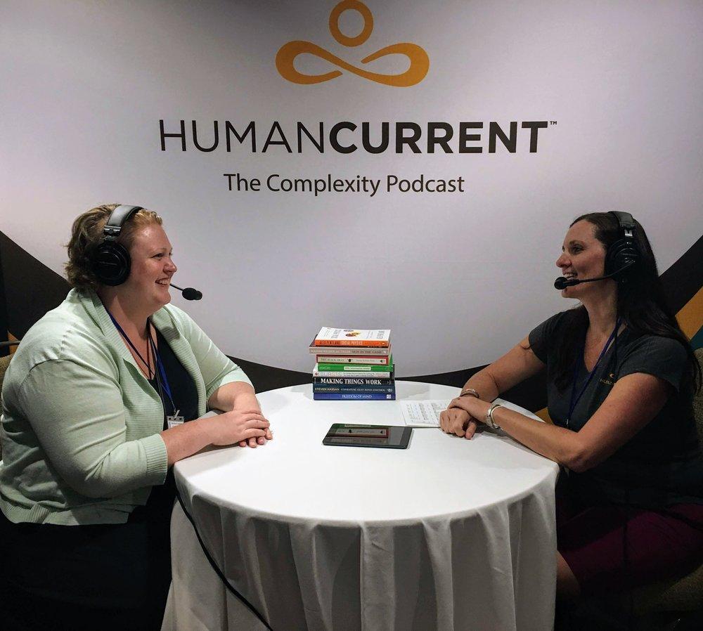 Angie talking with Sarah Shugars at ICCS