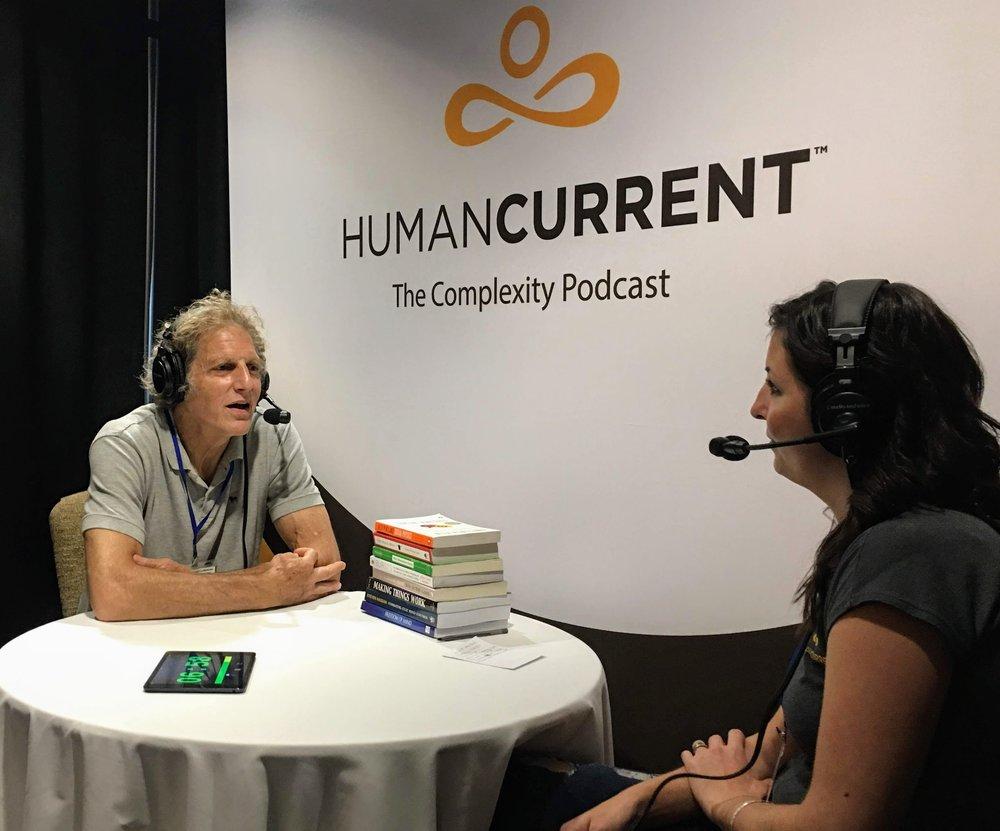 Haley talking with Josh Mitteldorf at ICCS 2018