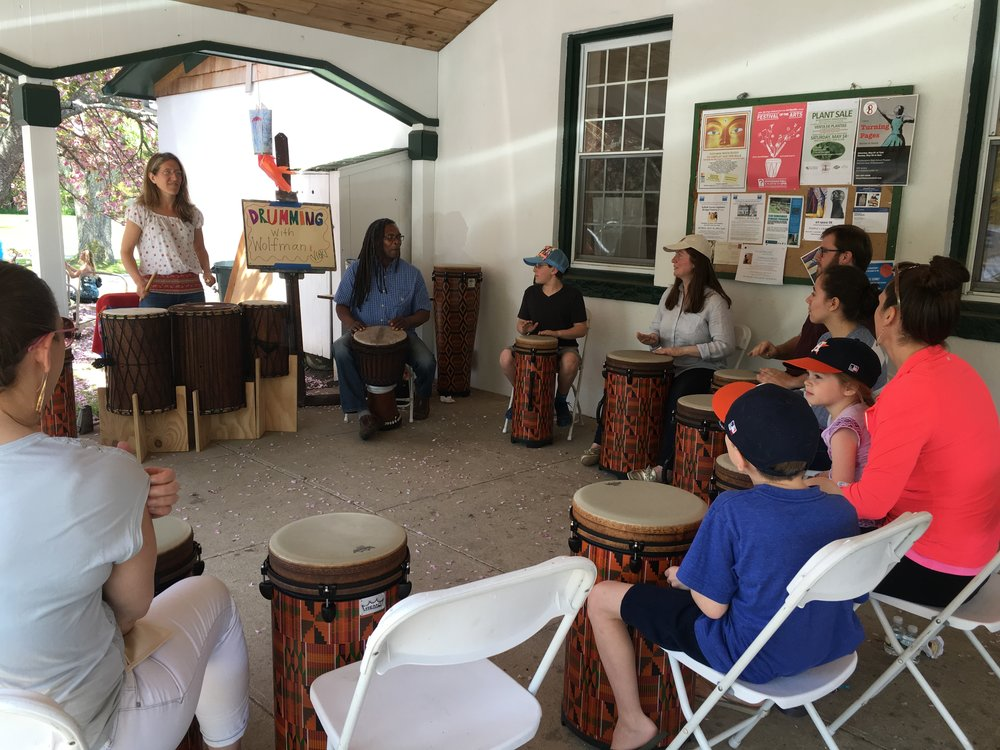 Festival of the arts drumming circle.JPG