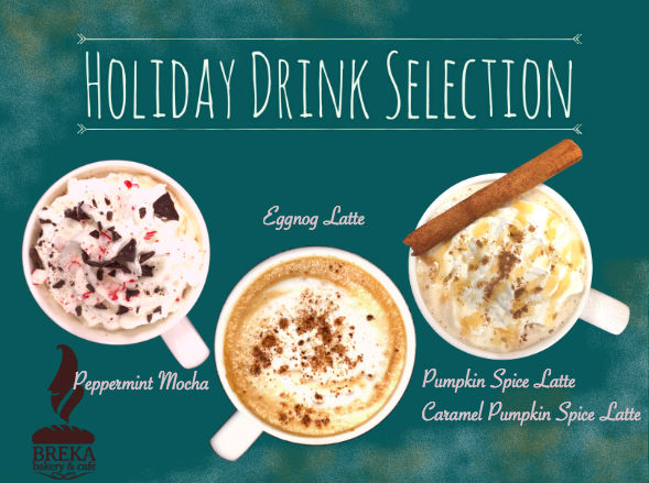 Breka's Holiday Drinks!