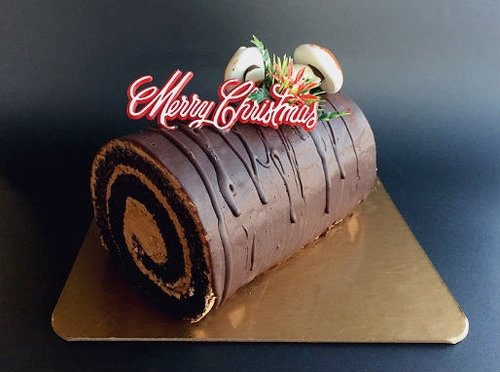 Yule Log - Chocolate Cake with Hazelnut Buttercream - $28 for 6-8 servings  Available from Dec.21st