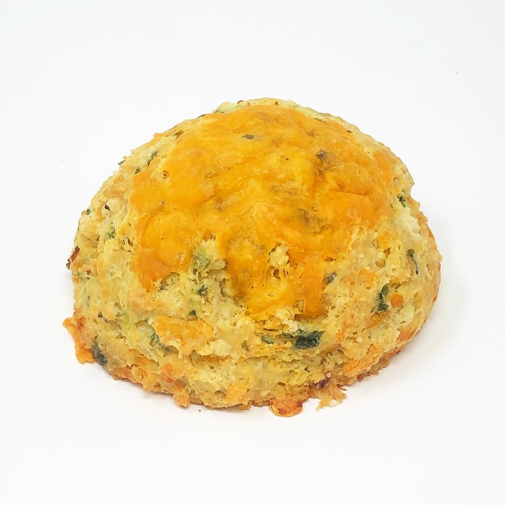 GREEN ONION CHEDDAR CHEESE SCONE - $3.25