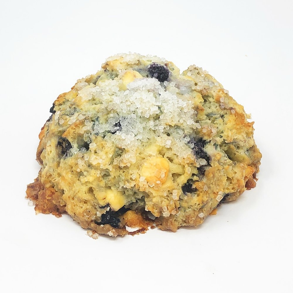 WHITE CHOCOLATE BLUEBERRY SCONE - $3.25