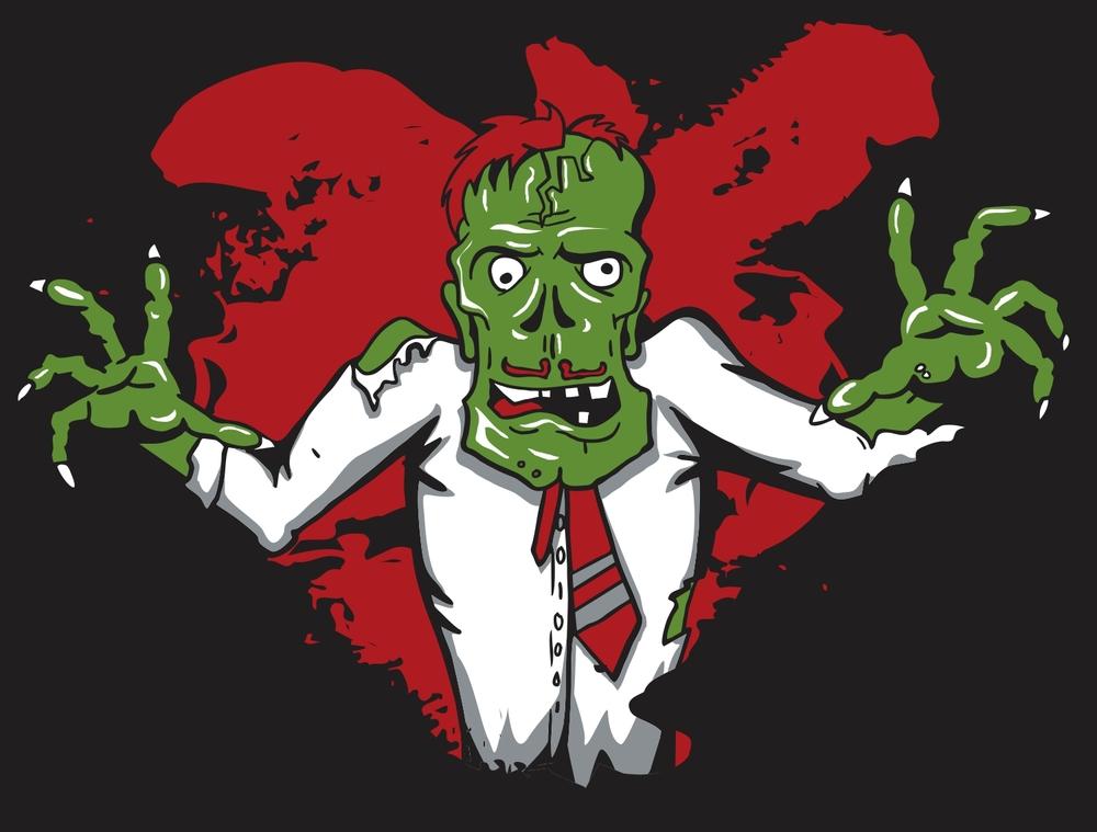 Childfriendly Business Zombie Sketch