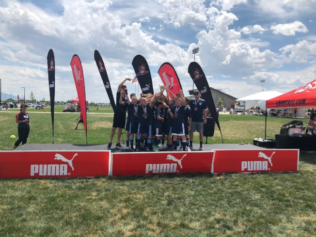 Our '06 Boys won La Roca Cup.