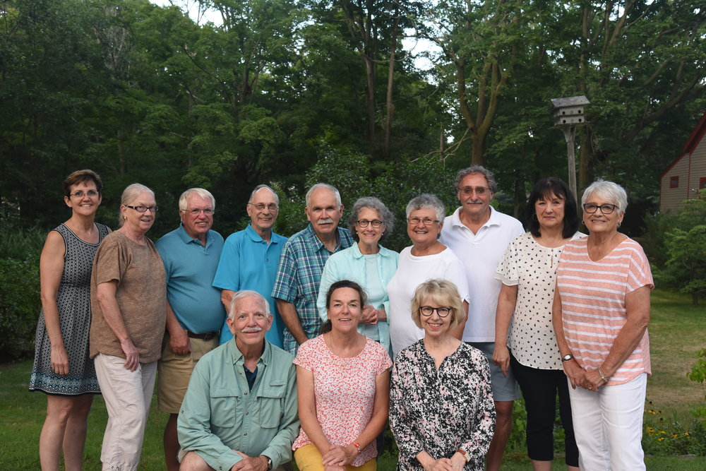 Back row, left to right: Anne baker, laraine scherban, jack scherban, bion shepard, john quinn, mary-kelly busch, dianne gustafson, christy pontillo, mary jane morelli, gail webster. FRONT ROW: dave bautz, carrie allen, megan stine.