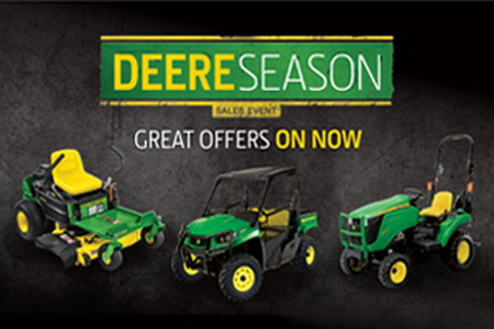GREAT JOHN DEERE SPECIALS Now through May 1, 2017