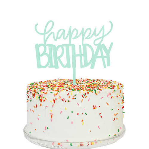 Happy Birthday Cake Topper Sunday Bake