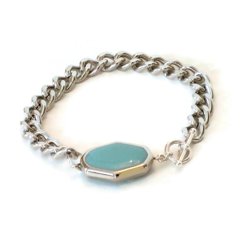I Want Candy toggle bracelet-turquoise