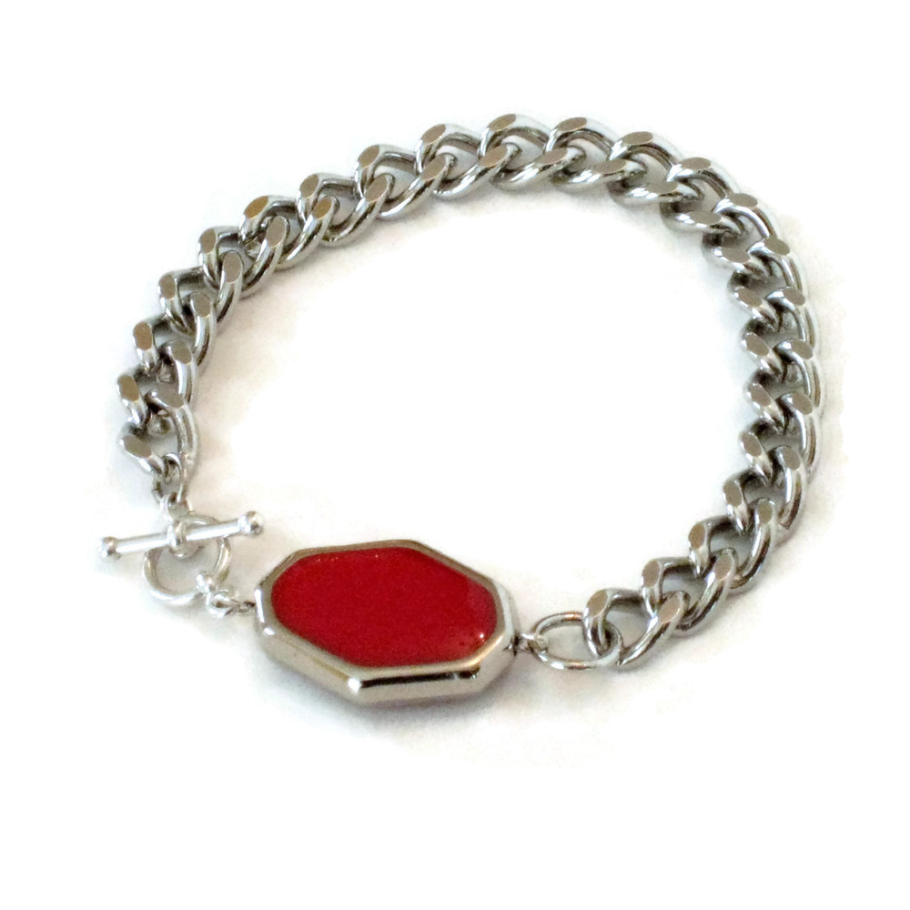 I Want Candy toggle bracelet- Red