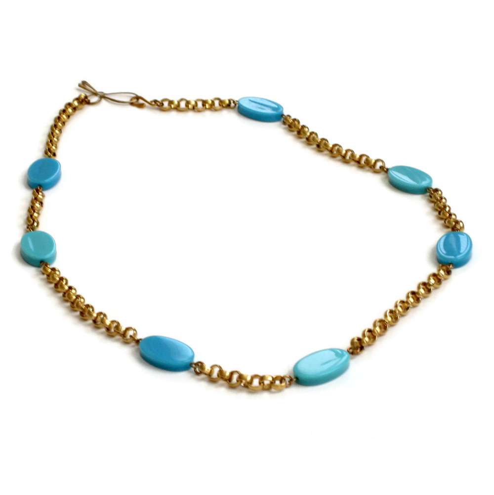 Ovaltine necklace with bow clasp-turquoise.jpg