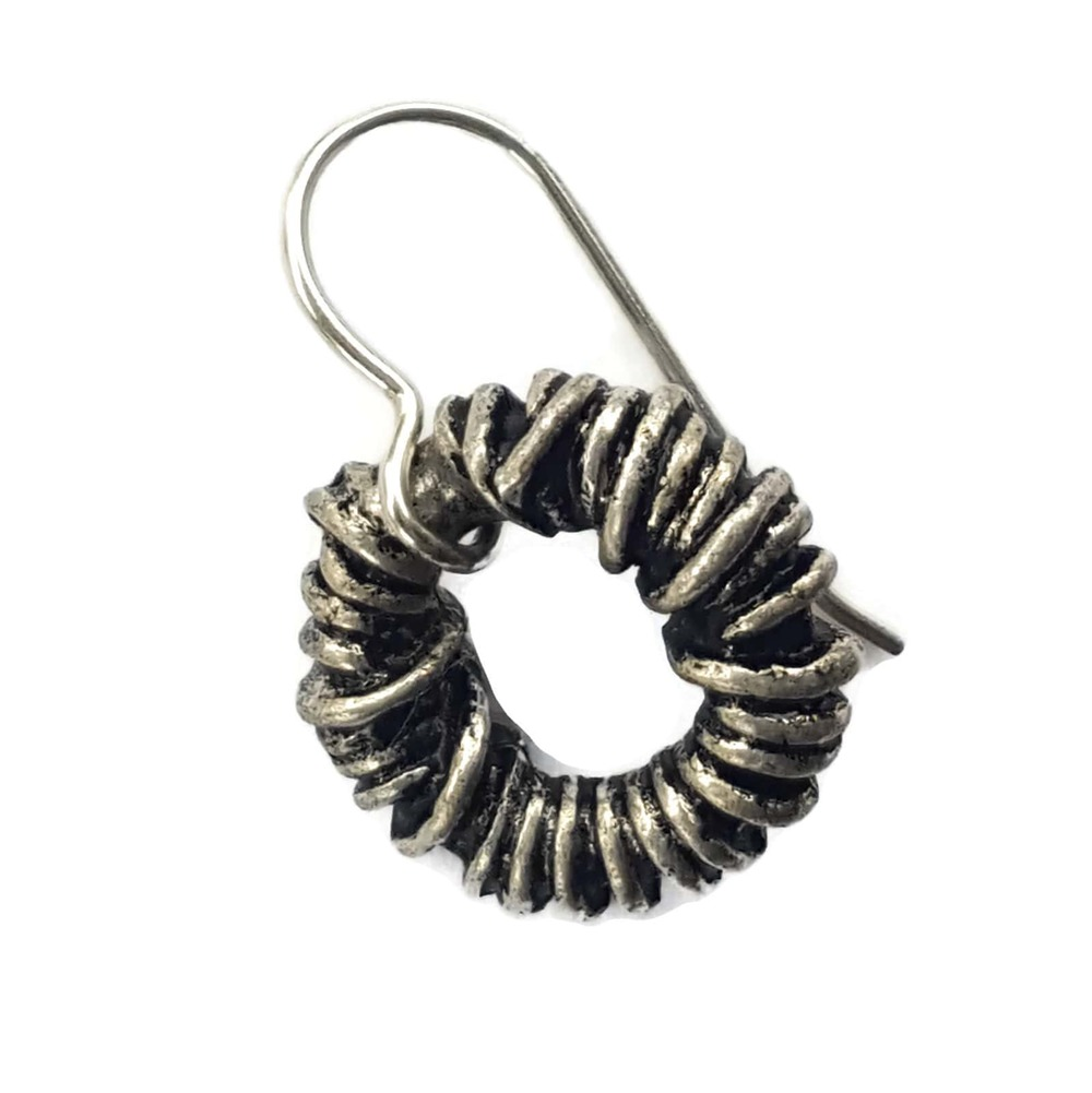 silver twist earring