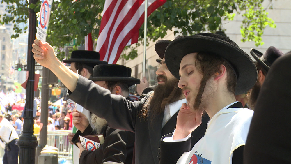 Neturei Karta rabbis, NYC. Photo Credit: Melanie Aronson