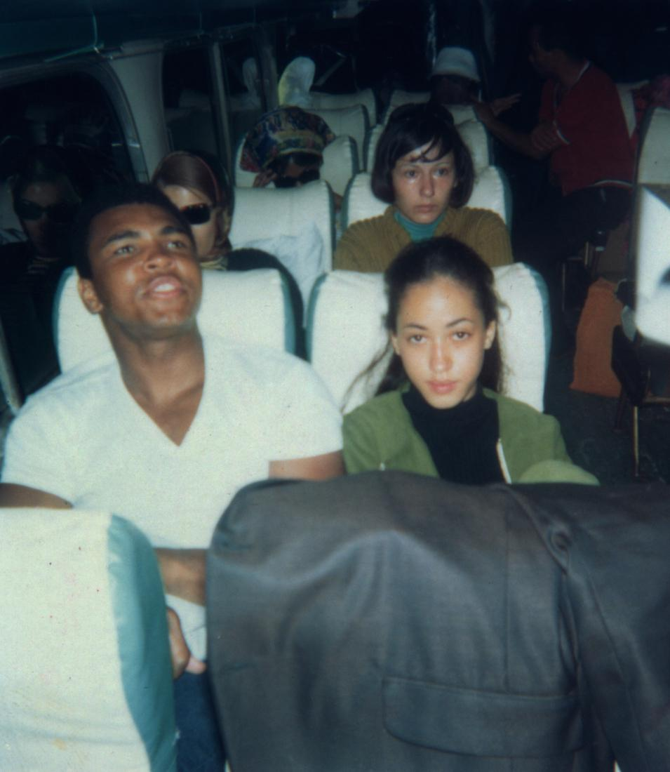 Muhammad Ali and a teenage Pat.