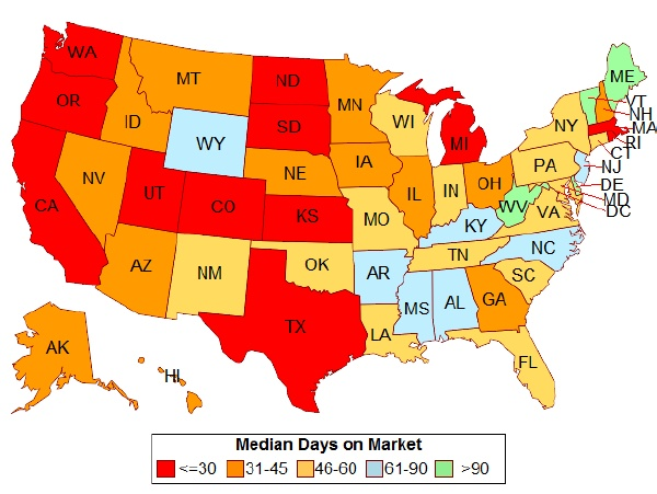 Salt Lake City Real Estate Market Heartbeat August 2015 - Average Days on the Market July 2015