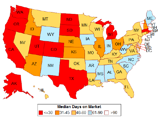 Median Days on the Market August 2015