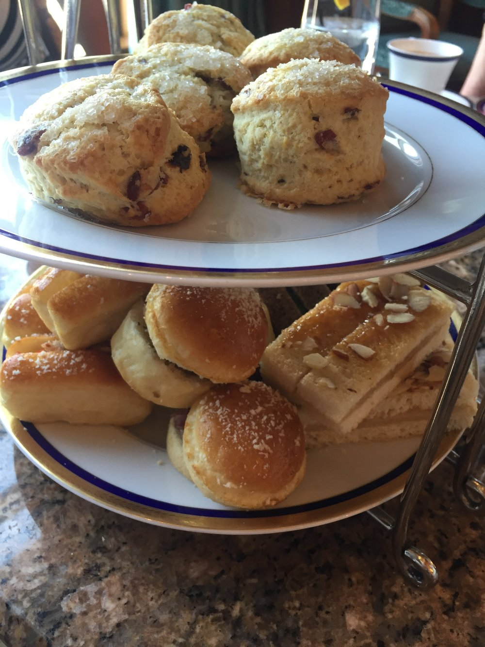 The Grand America Hotel Afternoon Tea Sandwiches and Scones (photo cred. Cassidy Demkov)