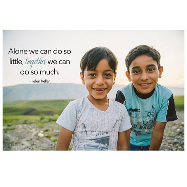 Always. Work. Together. If we each put a drop in the bucket, the only way we can get a full bucket is by working together with the same bucket. One drop in each individual bucket will lead to many nearly empty buckets. We can't be lone wolves. We must join together. Repost from @lovedoes #childrestoration #helenkeller #lovedoes #worktogether #jointogether #collaboration #sharethebucket #nolonewolves #youarenotanisland