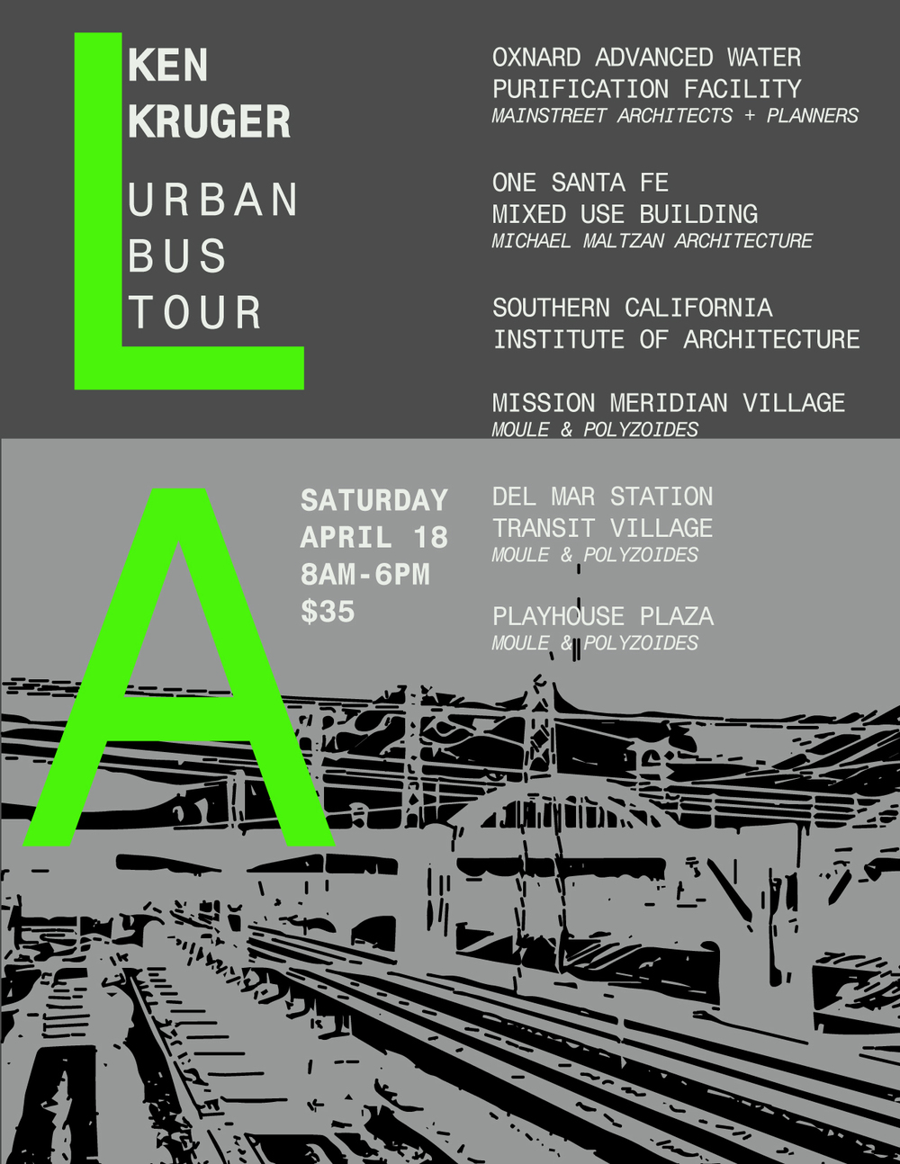 Flyer graphic design by Adriana Argyropoulos, Bildsten Architecture and Planning