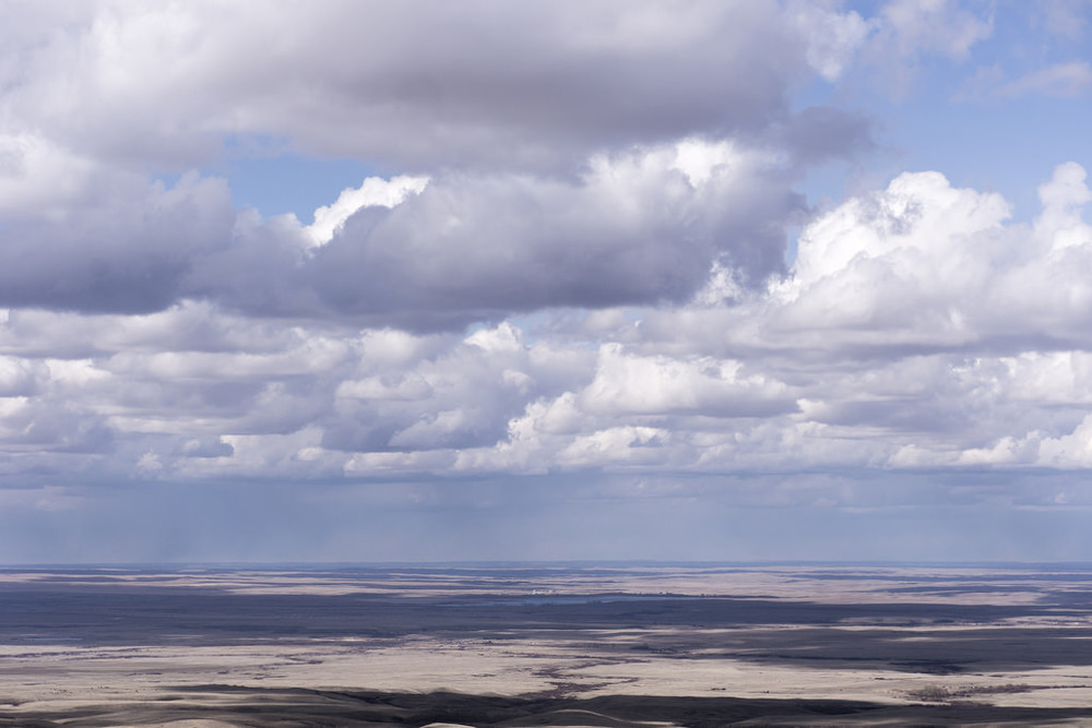 View of the south-western plains from the peak of Bald Butte, Cypress Hills Interprovincial Park.
