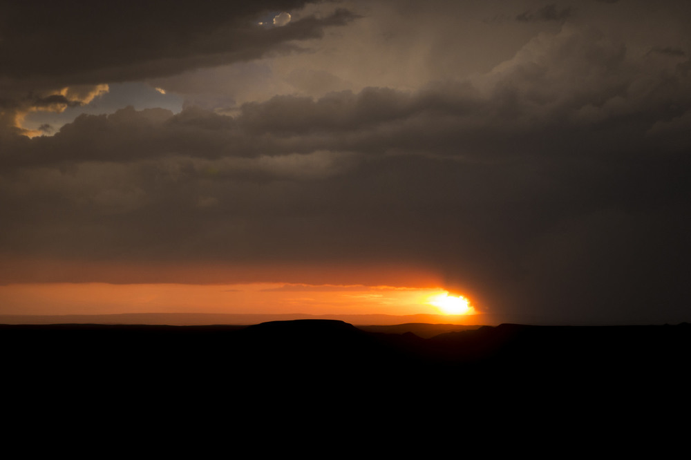 Stormy Killdeer Badlands - Grasslands National Park