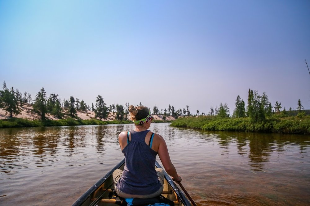 Paddling into the Poitras Delta