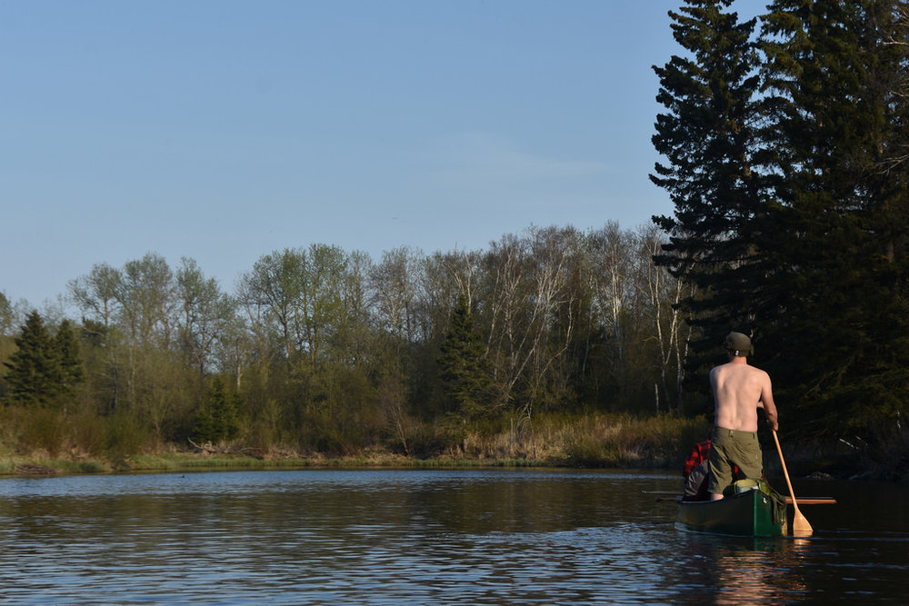 The Assiniboine River became more 'boreal' as we progressed (Hootz)