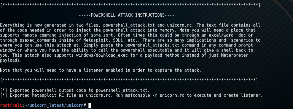 unicorn.py attack generation