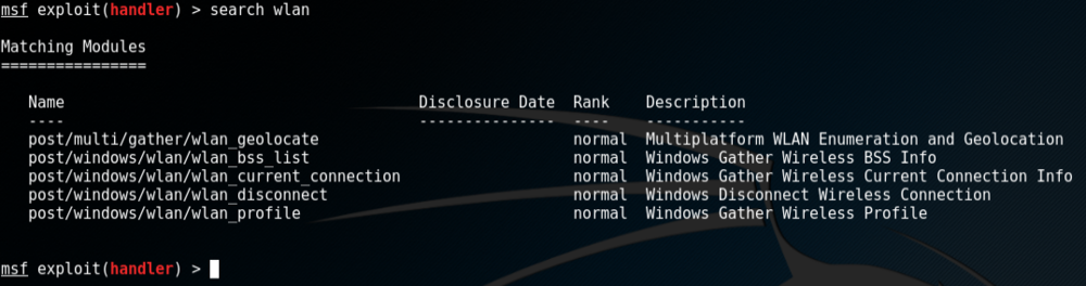 Metasploit WLAN modules