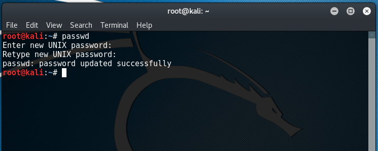 Update Kali Linux Root Password