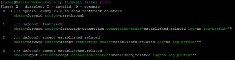 Mikrotik FastTrack Firewall Rules — Manito Networks