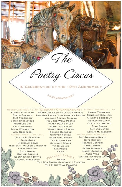 The Poetry Circus - August 26th at The Griffith Park Merry-Go-Round from 5-10 PM