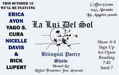 La Luz Del Sol - October 18, Coffee Gram, 8 PM