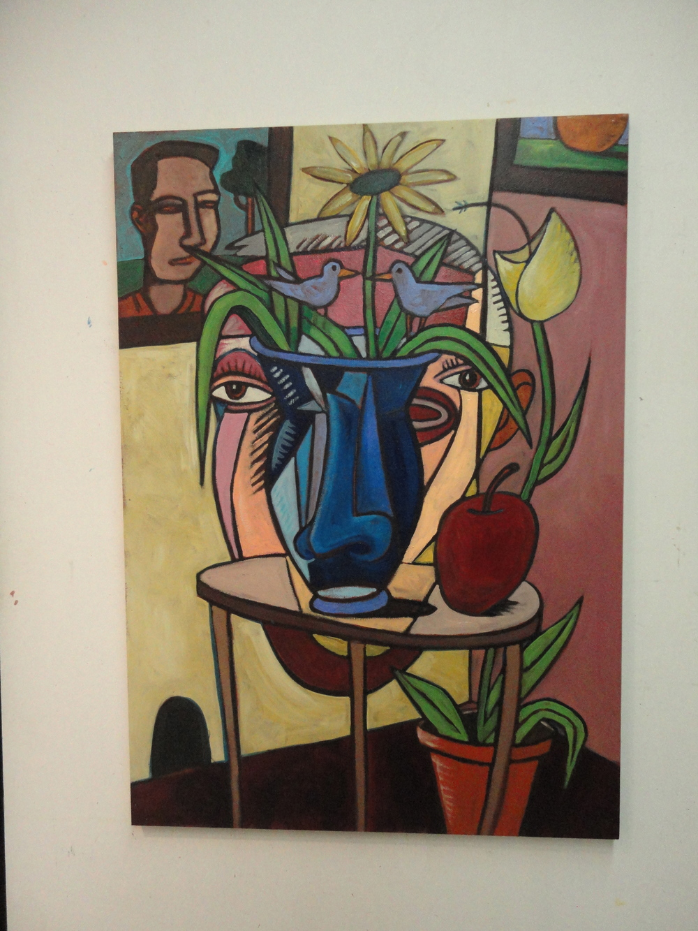 Interior with flowers 40x30 a/c 2013