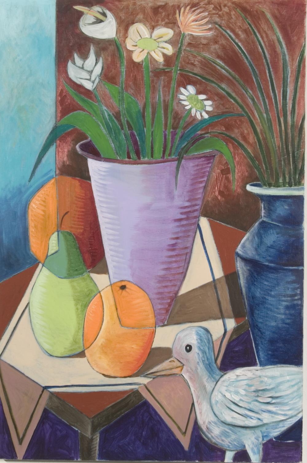 Still life w/bird 40x30 a/c 2008