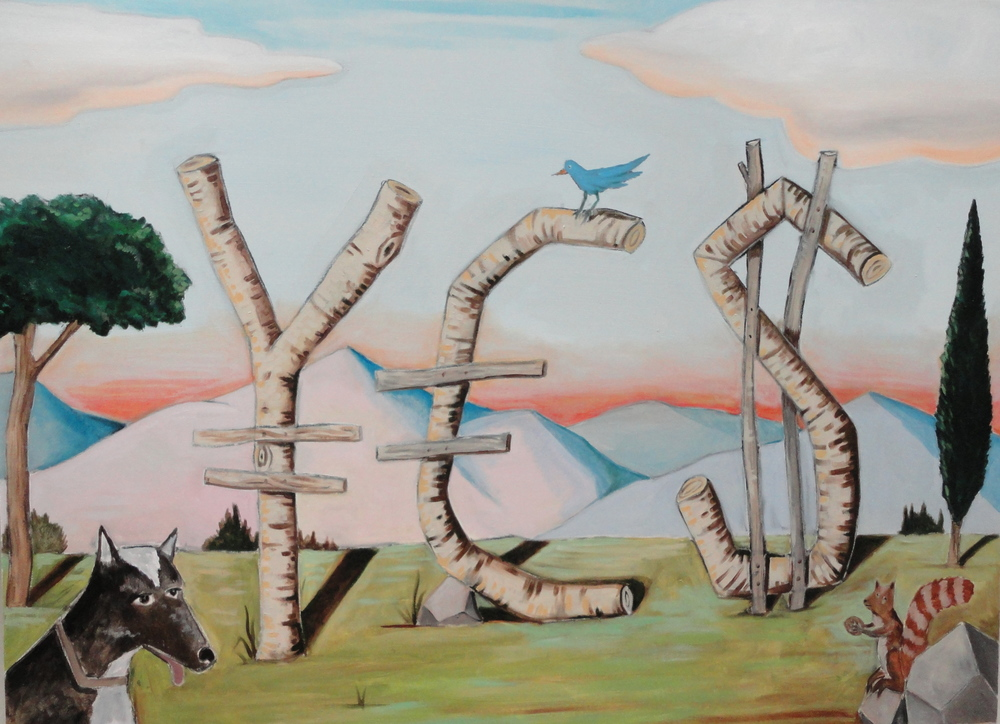 YES Naturally 30x40 acrylic on canvas 2012