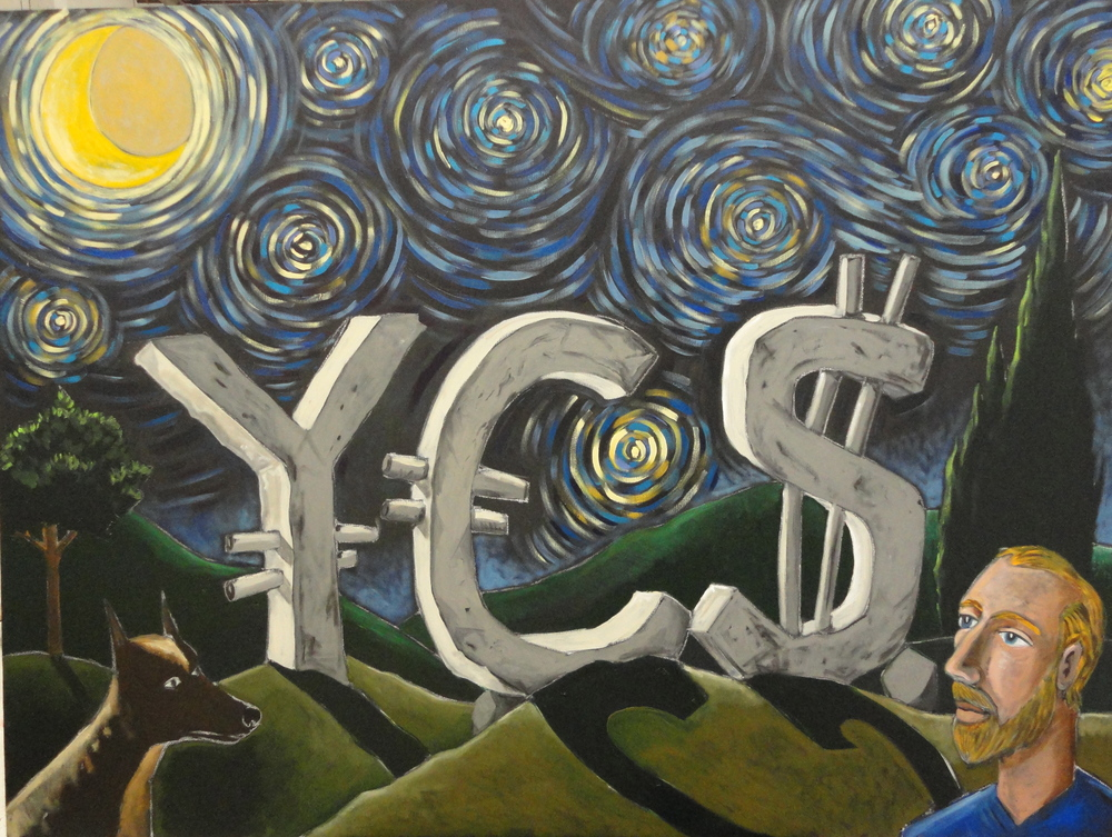 Starry YES 30x40 acrylic on canvas 2012