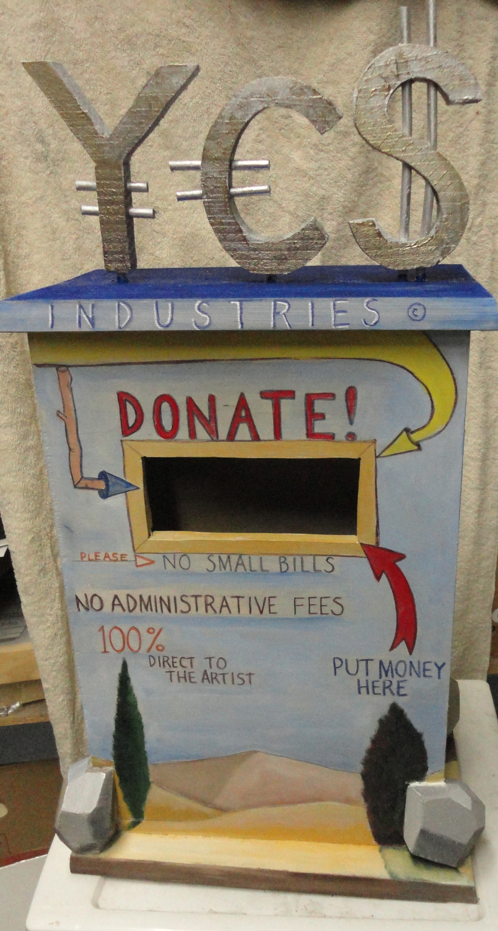 Donation Center  acrylic on wood 2012
