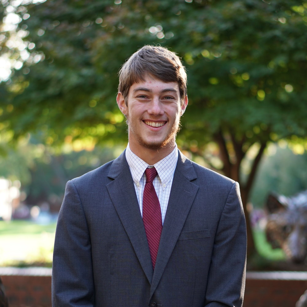 James McCoy - Junior, Mechanical Engineering and PhilosophyRaleigh, NCBenjamin Franklin ScholarsInternship at Wake Stone CorporationUTC TutorPD Committee