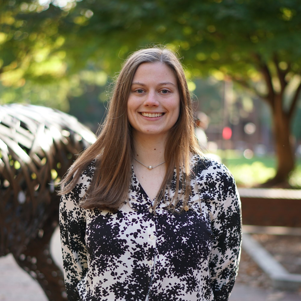Ashley Robbins - Senior, Electrical EngineeringRenewable Electric Energy SystemsDavidson, NCSecretary of ECE AmbassadorEvents co-chair of ECE AmbassadorsEvents Committee ChairInternship at Graphic PackagingWolfpack Pick-upFormer New Member CoordinatorPR and Rush Committees